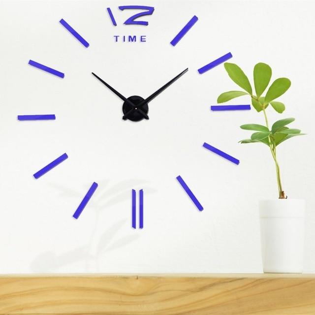 Design Moderno relógio de parede Grande Espelho Adesivo de Parede Digital Relógios De Parede Mute Relógio de Parede de Decoração Para Casa Navio Livre