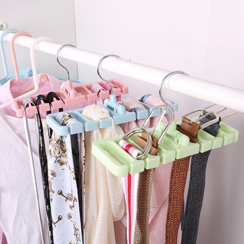 Closet Storage Rack Tie Belt Scarf Organizer Rotating Hanger Holder Space Saver