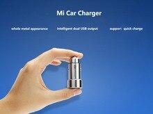 100% Original Xiaomi mi Apariencia Metálica de Doble Salida USB Cargador de Coche Adaptador de Cargador rápido Para el iphone 5 5S 6 6 S Para Samsung Etc