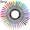Bianyo 48 Colors Artist Sketch Marker Set For Different Type Flash Highlight Metal Gouache Pen School