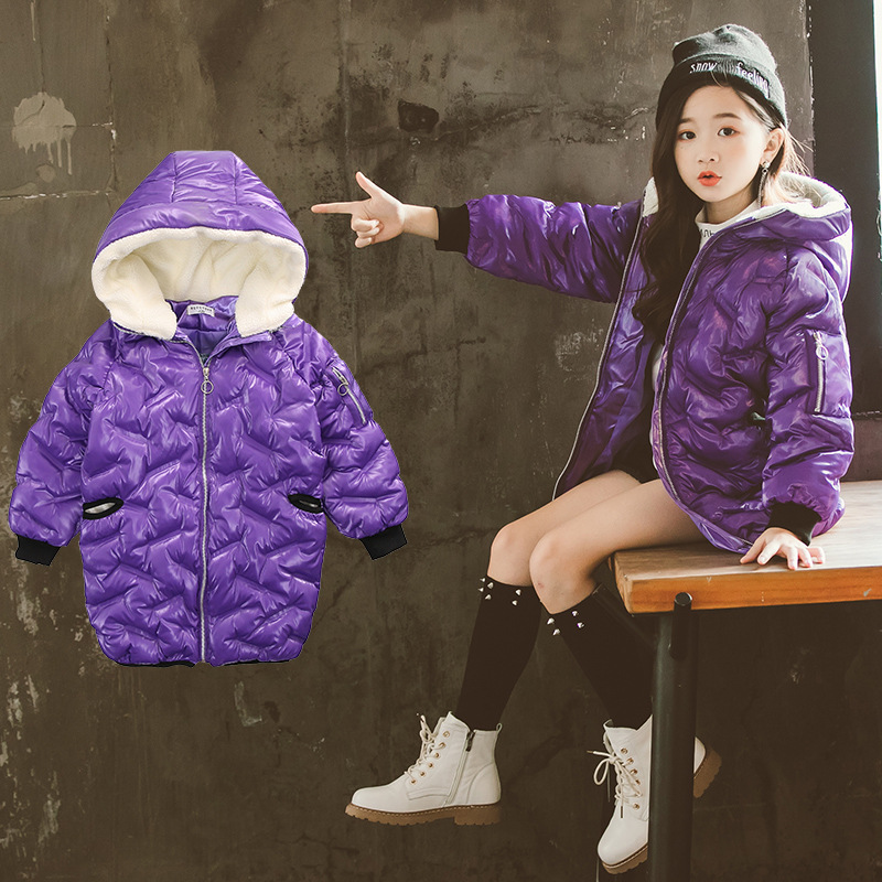 2018 Winter Warm Jackets Girls Kids Fashion Jacket Girls Parka For Kids Thick Outerwear & Coats Snowsuit Winterjas Meisjes 10 12 winter men jacket new brand high quality candy color warmth mens jackets and coats thick parka men outwear xxxl