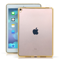 For IPad Mini 4 Case Clear Slim Transparent Silicon Soft TPU Shockproof Tablet Case Cover Gold