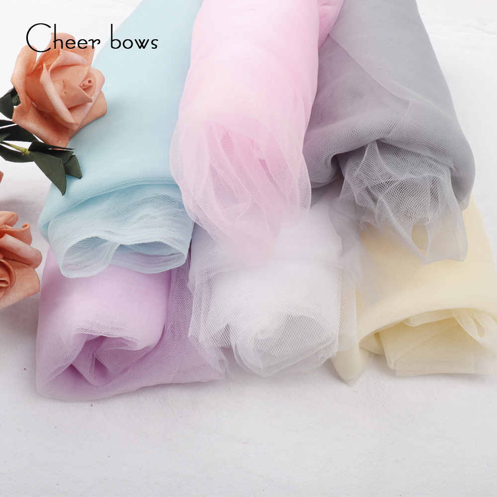 Cheer bow Lace Silk Fabric Home Textile For Dress DIY Handmade Textile DIY Handmade Materials Apparel Sewing Fabric 100*150 cm image