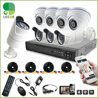 CCTV 8CH Surveillance AHD DVR System Video Recorder Security System With 720P1 MP AHD Camera HDD