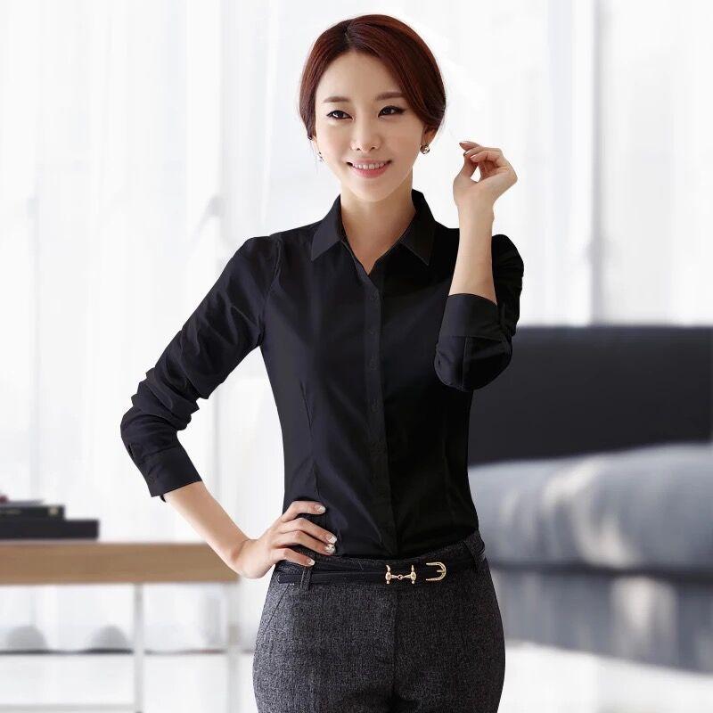 07bf9deabcc1fc 0^0 BIBOYAMALL Work Wear Women Shirt Blusas Femininas Tops Elegant Ladies  Formal Office White Blouse Long Sleeve Girls Shirts-in Blouses & Shirts  from ...