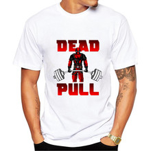 2017 New Brand Men t shirts gyms clothing Bodybuilding Fitness Men dead pull printed t-shirts Tshirt Homme