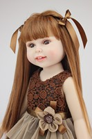 popular 18inches American doll Girl fashion play doll beautiful doll education toy for children standing long hair