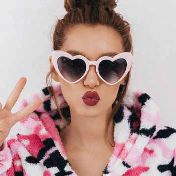Brand Designer Vintage Sunglass Fashion Love Heart Sunglasses Women cute sexy retro Cat Eye Vintage cheap SunGlasses red female