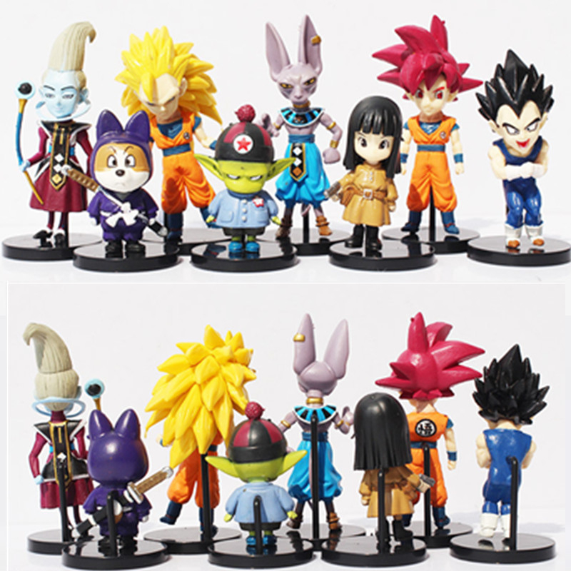 1pc/lot Dragon Ball Z Figures 8 Styles Birusu/Uisu/Vegetto/Shou/Pilaf/Goku/Vegeta Action Figures PVC Dragon Ball Toys 8CM