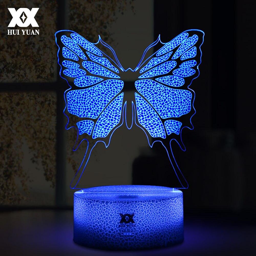Neue LED Kühle Bunte 3D Schmetterling Dekorative Tischlampe USB ...