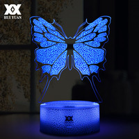 New LED Cool Colorful 3D Butterfly Decorative Table Lamp USB Cartoon Novelty Night Light Child S