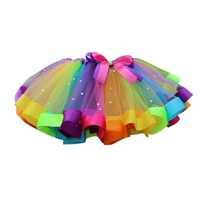 Summer Lovely Girls skirt Baby Kids Girl Tutu skirt Children With Diamond Rainbow Princess skirts