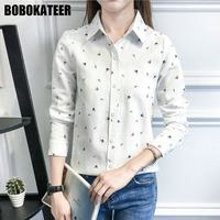 BOBOKATEER Fashion Blouse Women Blouses Long Sleeve Shirt Women Tops Blusas Camisas Femininas Manga Longa 2017