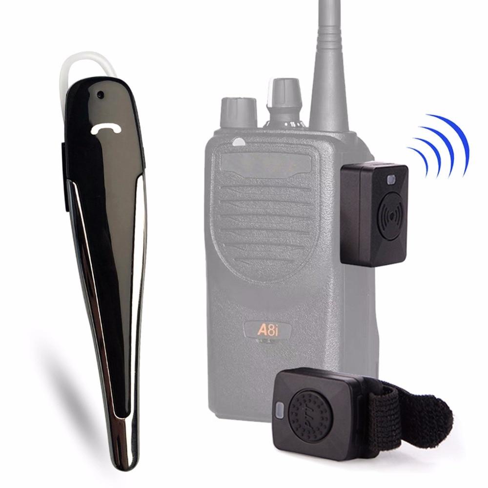 Galleria fotografica Bluetooth auricolare per il walkie talkie TK port Auricolare Per baofeng UV-82 5R F8HP Motorola <font><b>KENWOOD</b></font> Car Casco Cuffie