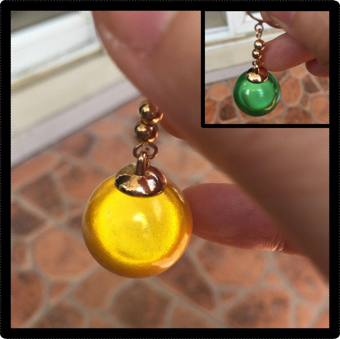 Super Dragon Ball Z Vegetto Goku Potara Earring Ear Stud Cosplay Shiny 1 Pair Golden Color 1.5cm Ball