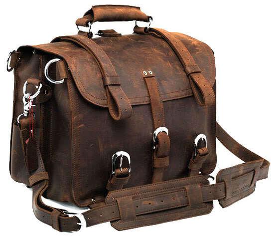 5Pcs/Lot Leather Bag Genuine Crazy Horse Leather JMD Men's Backpack Travel Bag Huge 7072R