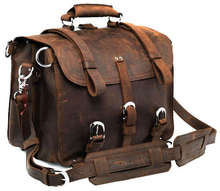 Wholesale  5Pcs/Lot Leather bag Genuine Crazy Horse Leather JMD Men's Backpack Travel Bag Huge  #7072R