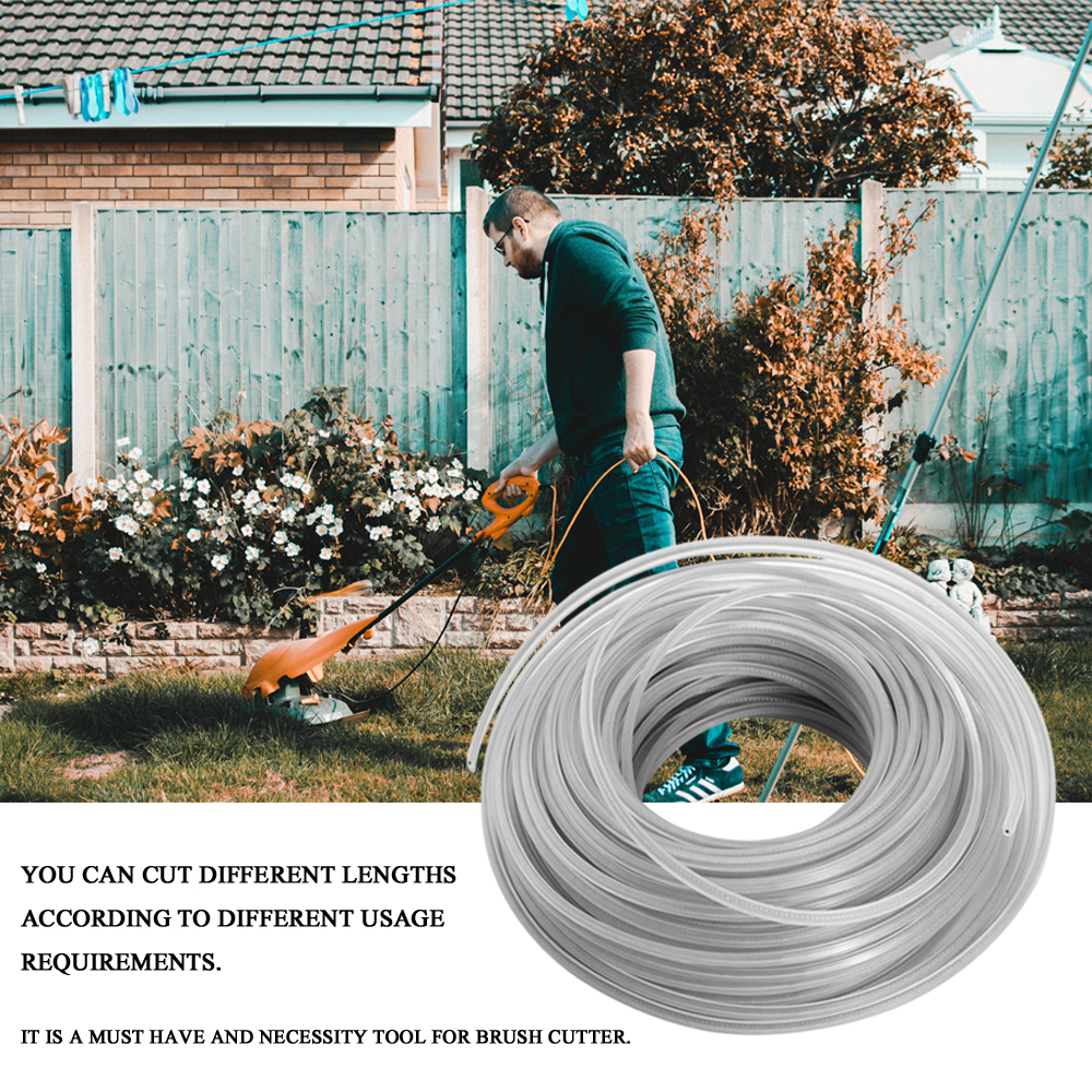 3.0mm Trimmer Wire Rope Cord Line Strimmer Brushcutter Trimmer Long Round Roll Grass Replacement Wire Garden Tools3.0mm Trimmer Wire Rope Cord Line Strimmer Brushcutter Trimmer Long Round Roll Grass Replacement Wire Garden Tools