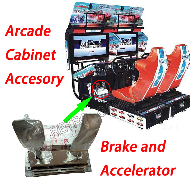Outrun Car Racing game machine pedal brake and accelerator/simulator racing machine/arcade racing /coin operated racing machine image