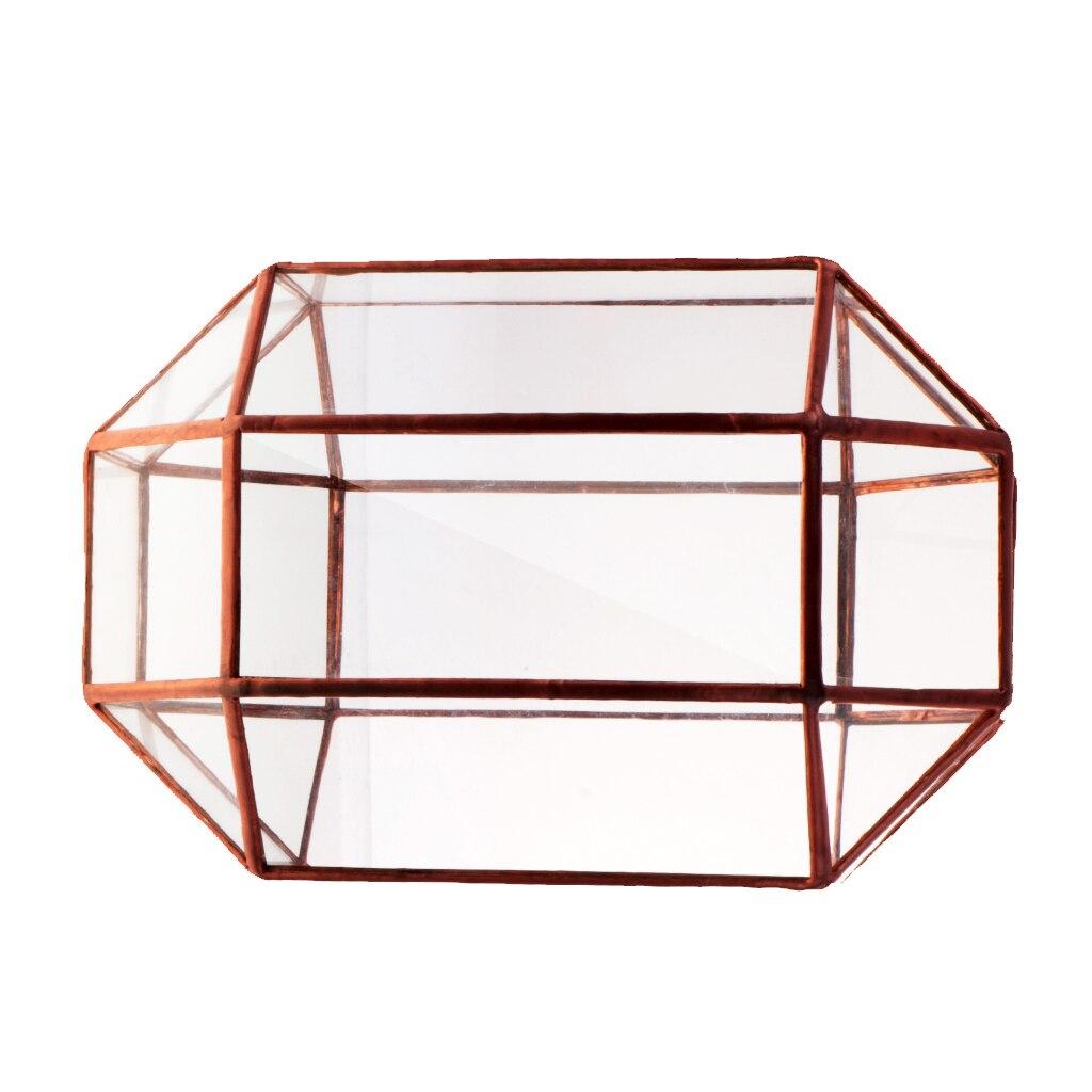 Vintage Artistic Modern Metal Glass Geometric Terrarium