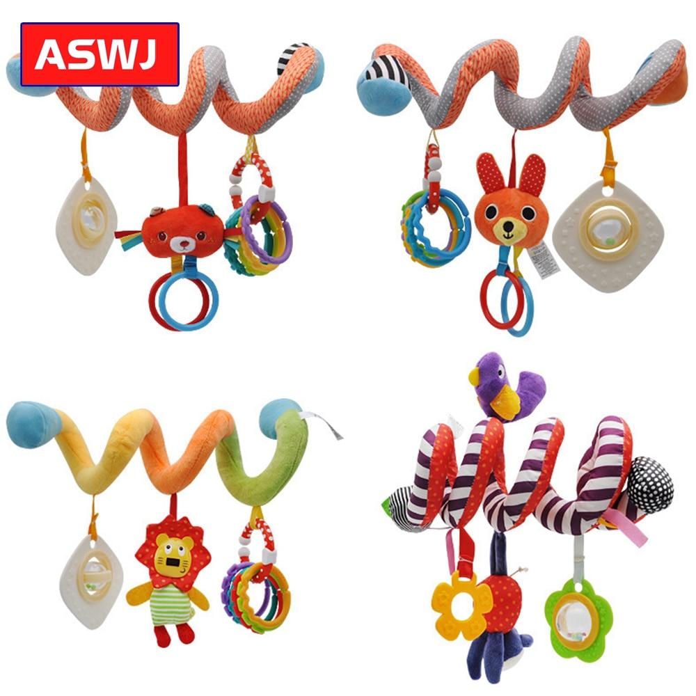 Infant Lathe Pendant Bed Around Plush Toy Lion Rainbow Dental Glue Ring Pendant Educational Rattles Toys Classic Gifts