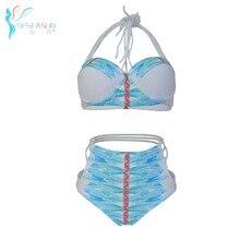 SESEASUN Brand Bikini 2017 High Waist Swimsuit Of Large Sizes Push Up Women's Swimming Suit Underwire Teenage Swimwear Biquinis
