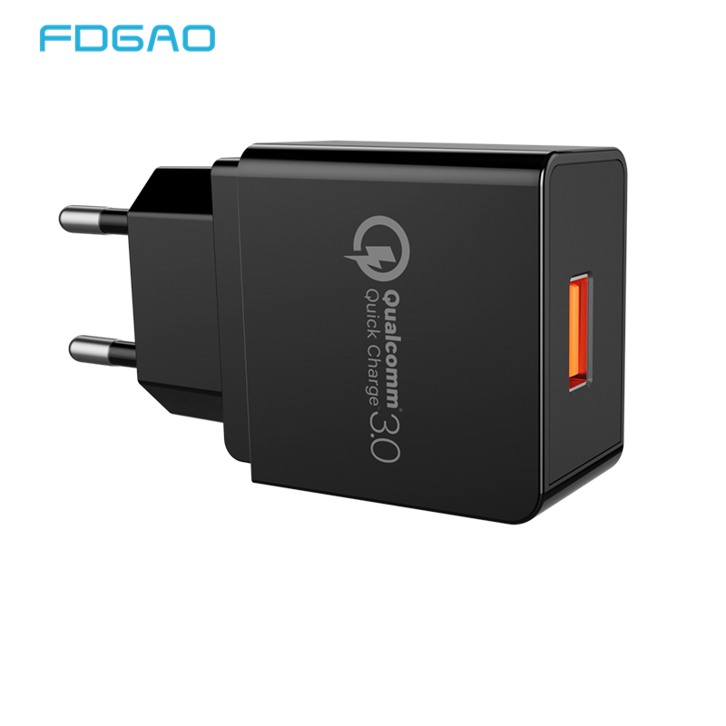 DCAE Quick Charge 3.0 <font><b>USB</b></font> Fast <font><b>Charger</b></font> EU/US <font><b>QC3.0</b></font> <font><b>USB</b></font> Wall <font><b>Charger</b></font> Adapter Phone <font><b>Chargers</b></font> for iphone X 8 Xiaomi Samsung Huawei image