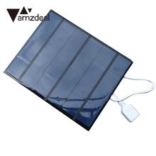 amzdeal 3.5W 6V USB2.0 Folding Solar External Battery Charger Charging Battery Power Panel Mobile Phone Portable Chargers