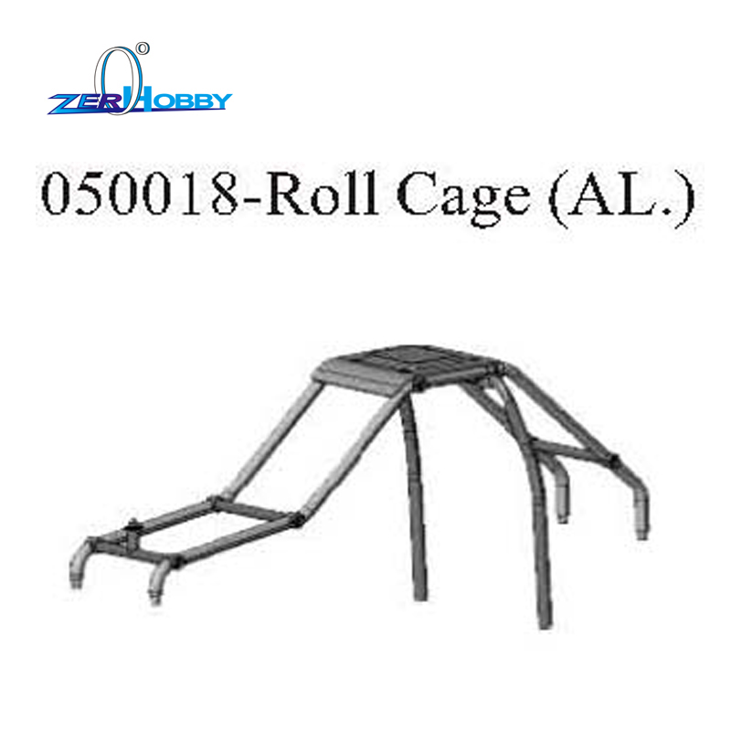 RC CAR UPGRADE SPARE PARTS ALUMINUM ROLL CAGE FOR HSP 1/5 GAS TRUCK 94050 (part no. 050018)