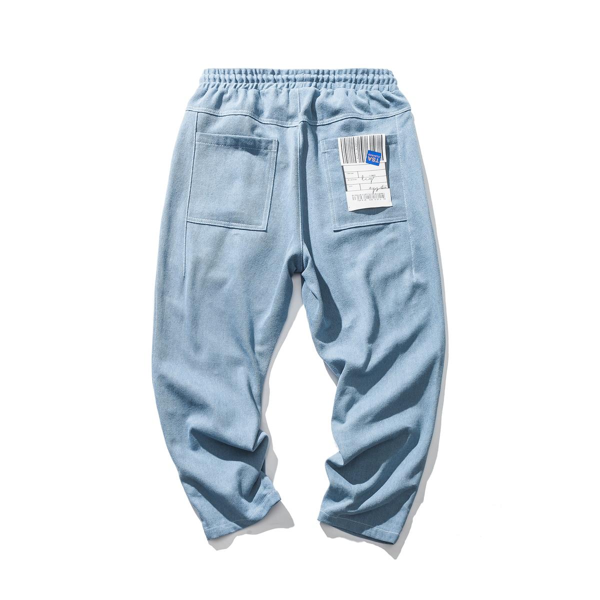 Image 5 - 2019 New Mens Biker Stretch Loose Classic PATCH Jeans Holes  Denim Famous Brand Casual Straight Harem Pants Blue/black  TrousersJeans