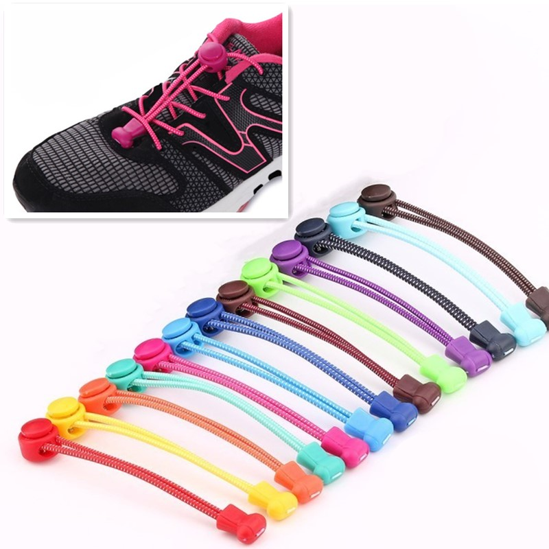 1 Pair Shoelaces Lazy Elastic No Tie Locking Round Shoe Laces For Boys And Girls Quick Locking Shoestrings And Round Shoelace