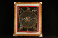 Spot Tibetan monks painted mandala wheel when Mandala Thangka painting Manjushri 45 * 35