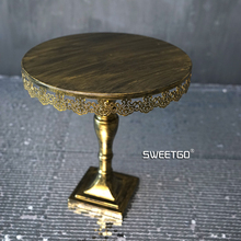 Golden cake stand / wedding props retro plate Continental Iron dessert table highchair tray free shipping