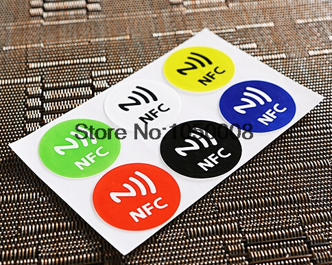 6pcs/Lo NFC Tags Sticker 13.56MHz ISO14443A Ntag 213 NFC Stickers Universal Lable Ntag213 RFID Tag for all NFC enable