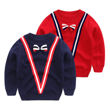Children pullovers The baby in the spring and autumn 2016 British sweaters han edition autumn outfit The boy round collar