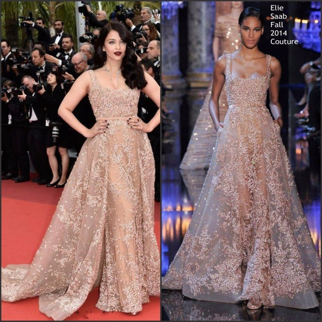 Modest Elie Saab Evening Dresses With Over Skirt Beads Sequin Arabic Dubai Prom Dress Scoop Sweep