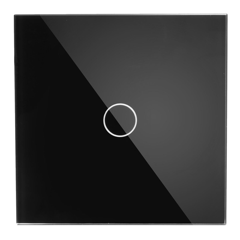 Touch Switch, 2 Way 1 Gang, Black White Crystal Glass Switch Panel, Wall Light Touch Screen Switch, AC100-250V Promotion 1 way 3 gang crystal glass panel touch screen home light wall switch remote controller ac100 250v best price