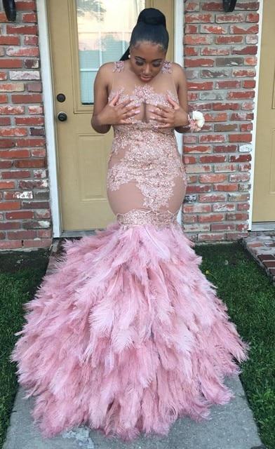Robe De Soiree Sexy Long Prom Dress 2017 Beaded Pink Prom ...