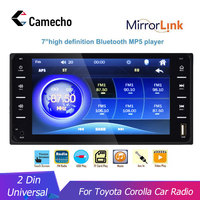 2 Din Universal Car Multimedia Player 7'' Touch Screen Autoradio Camecho BT Car Auto Stereo Rear View Camera For Toyota Corolla