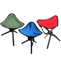 Camping Tripod Stool 3 Color Available Outdoor Folding Portable Tri Leg Stool For Outdoor Camping Fishing
