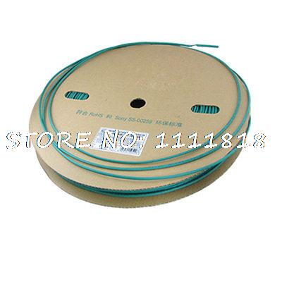 Ratio 2:1 3.5mm Dia. Green Sleeving Heat Shrink Tube 200M 200meter set 3 5mm pvc heat shrink tube ratio 2 1 sleeving for insulating connector