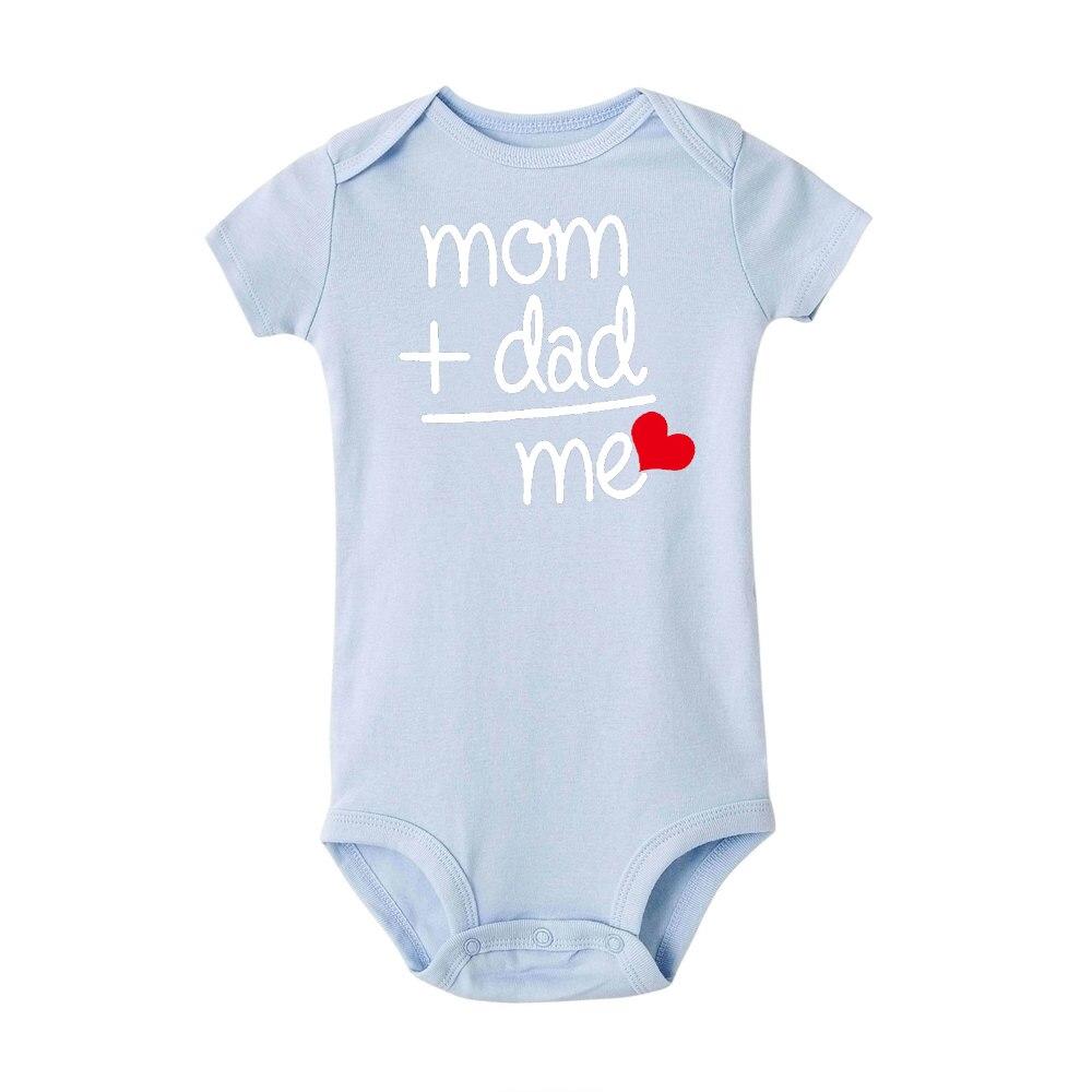 HTB1UMK5JIfpK1RjSZFOq6y6nFXa8 8 COLORS Newborn Toddler Baby Boy Girl Dad +Mom Outfit Costume Romper short sleeve Clothes Baby girl roupa de bebe 0-24M