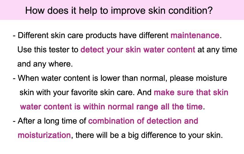 Skin Care Tool Facial Moisture Oil Tester Detector Analyzer Monitor Digital LCD Display Personal Care 7