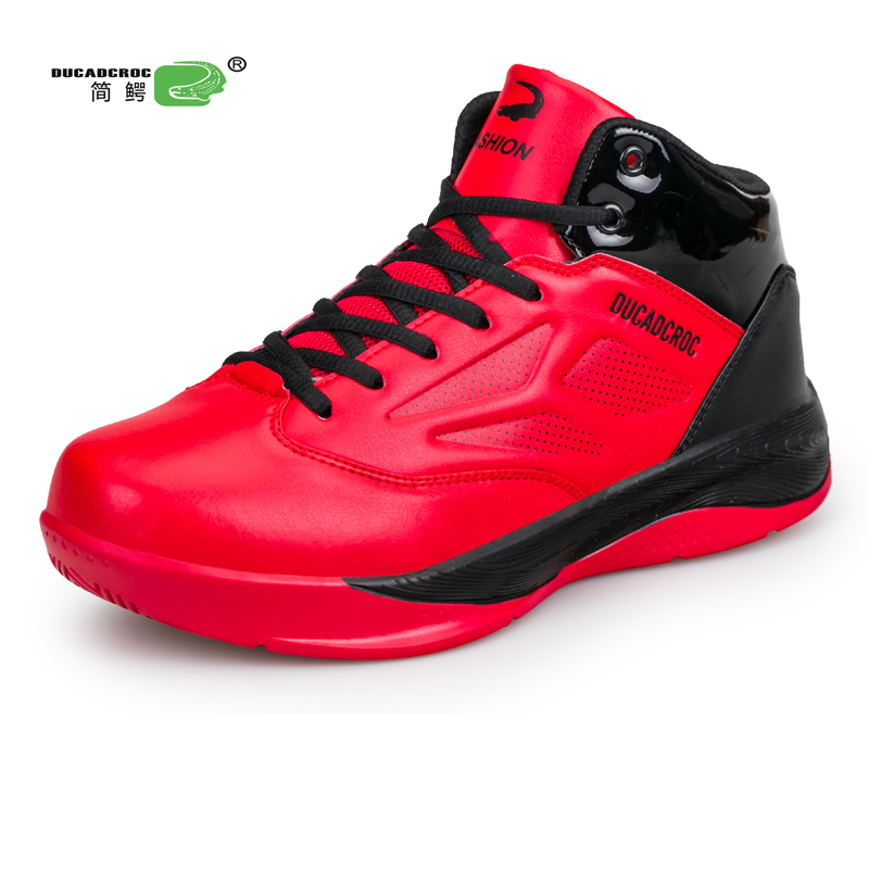 Mens Basketball Shoes High Top Training Sneakers Large Size Sport Shoes Man Black Red Athletic Shoes Original Basketball Boots