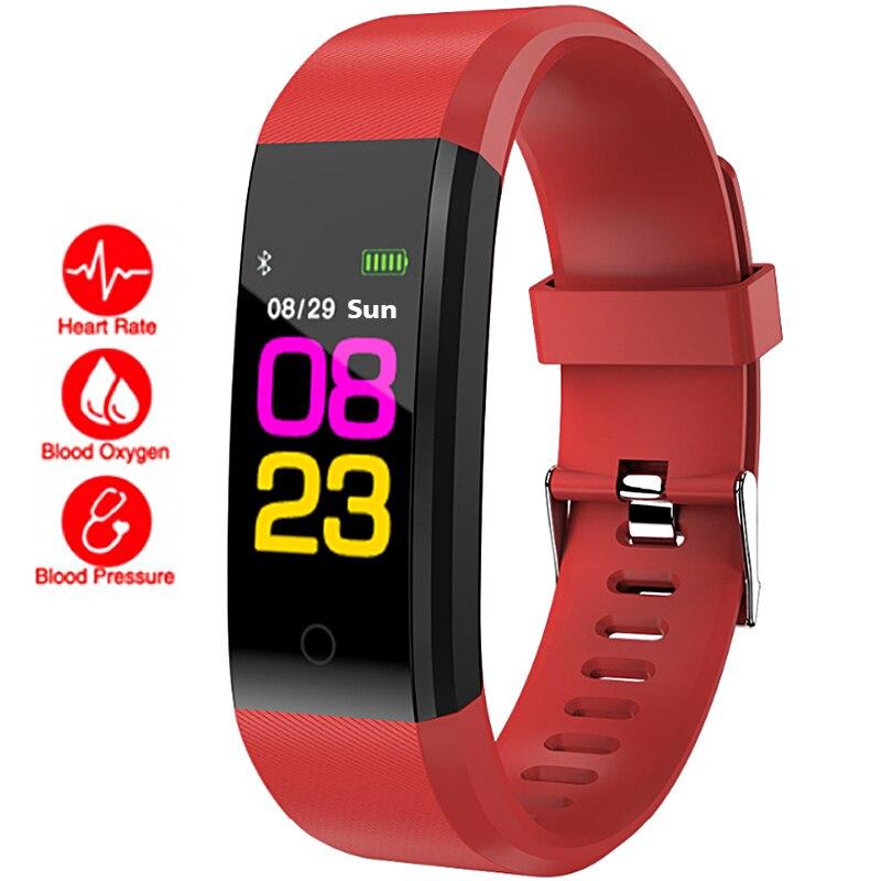 938c8e4fb Cheap Reloj de pulsera inteligente para mujer, Monitor de ritmo cardíaco,  alarma Digital de
