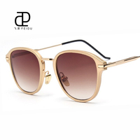 FEIDU New Vintage Luxury Sunglasses Women Brand Designer Sun Glasses Anti UV Metal Temples Gradient Ladies Sunglasses