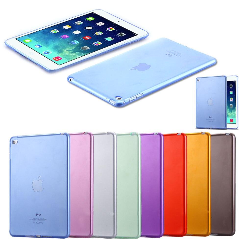 FLOVEME For iPad Mini 4 Cases Soft TPU Gel Crystal Clear Case For iPad Mini 4 Mini4 Slim Anti-scratch Transparent Tablet Cover