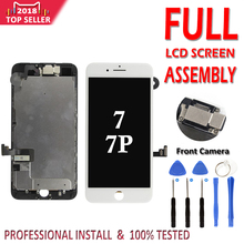 Conjunto completo de LCD para iPhone 7G 7 Plus LCD Pantalla Completa reemplazo del digitalizador de pantalla táctil sin botón de inicio cámara frontal