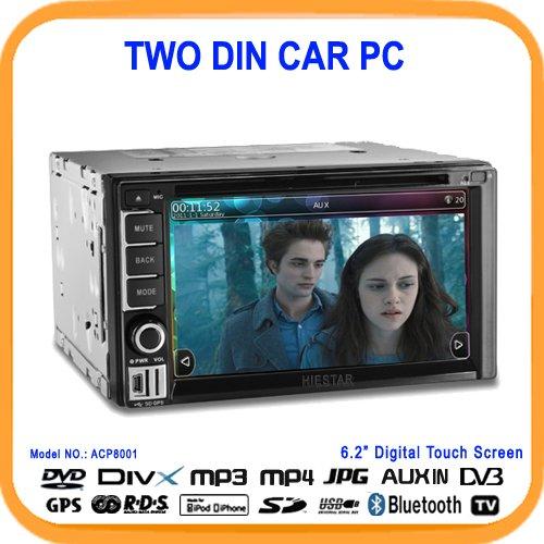 2011 New Style 6.2'' 2DIN Car Pc,DVD-ROM,GPS,Wifi+Steering Wheel Controll+DVB-T/ISDBT/CMMB (optional) (ACP8001)