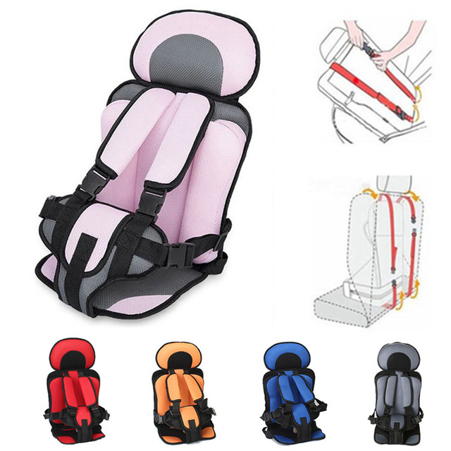 Portable Baby Seat Infant Cushion Booster Seat Adjustable Child Toddler Baby Chair in the Car Thicken Stroller Seat Pad 0-5Y